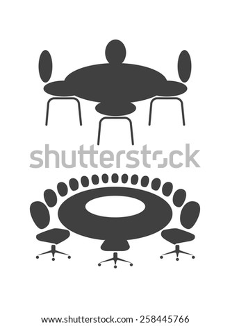 table for business meetings - stock vector