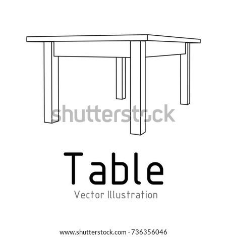 Round table furniture wireframe blueprint linear vectores en stock table furniture wireframe blueprint linear outline pedestal vector illustration malvernweather Images