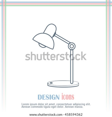 Table lamp. Vector icon.