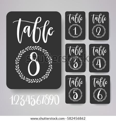 Table number stock images royalty free images vectors for Table design numbers