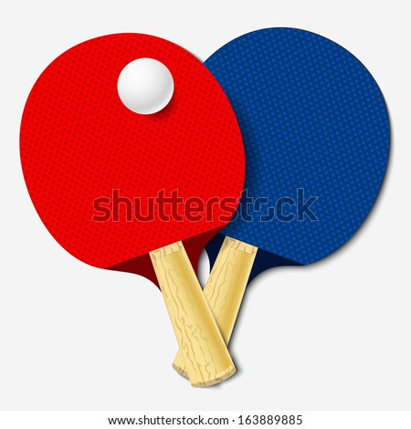 table tennis bats. table tennis bats. vector illustration bats f