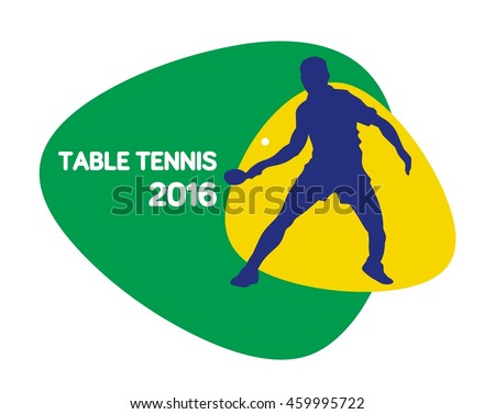 Table tennis icon, vector illustration