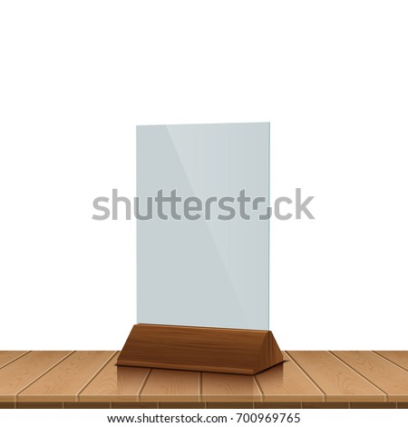 table tent on wooden table isolated  sc 1 st  Shutterstock & Table Tent On Wooden Table Isolated Stock Vector 700969765 ...