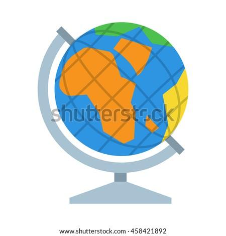 Table world globe vector icon. Earth model illustration. - stock vector