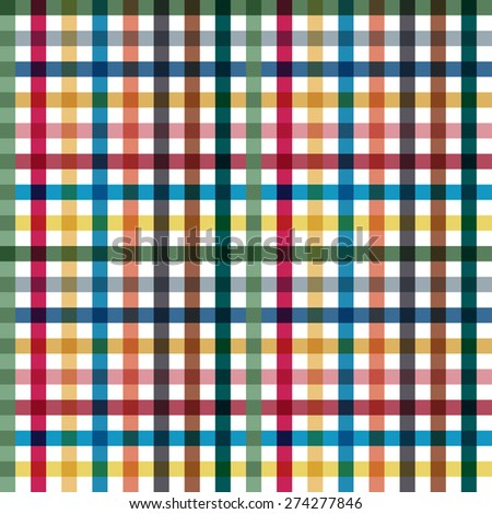 Tablecloth Multiply Colors Pattern - stock vector
