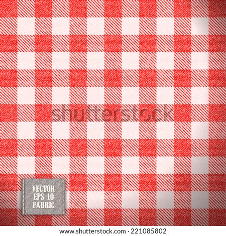 tablecloth texture realistic fabric in vector format - stock vector