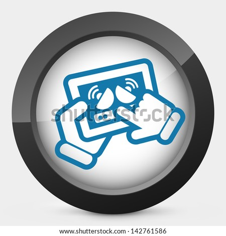 Tablet antenna - stock vector