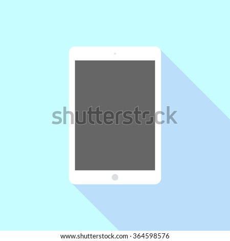 Tablet computer with blank screen in ipad style. Tablet Icon Vector. Tablet Icon Picture. Tablet Icon Drawing. Tablet Icon Image. Tablet  Icon JPG. Tablet Icon JPEG. Tablet Icon EPS - stock vector