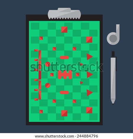 Tablet for Training Paintball, Training Field. Vector Illustration - stock vector