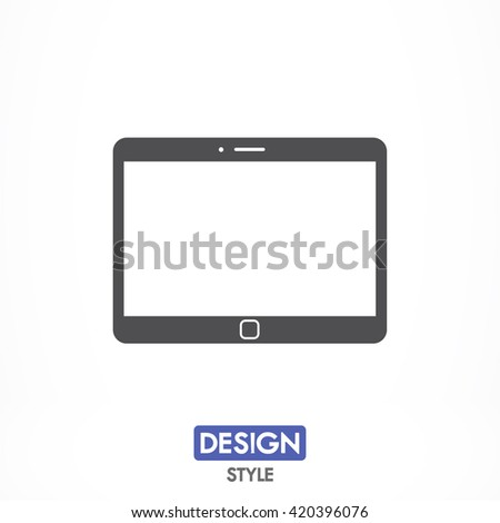 Tablet icon, tablet pictograph, tablet web icon, tablet icon vector, tablet icon eps, tablet icon illustration, tablet icon picture, tablet flat icon, tablet design icon, tablet icon art, - stock vector