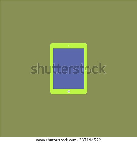 Tablet. Icon Vector. Icon Picture. Icon Graphic. Icon Art. Icon JPG. Icon JPEG. Icon EPS. Icon AI. Icon FLAT. Icon SIMPLE - stock vector