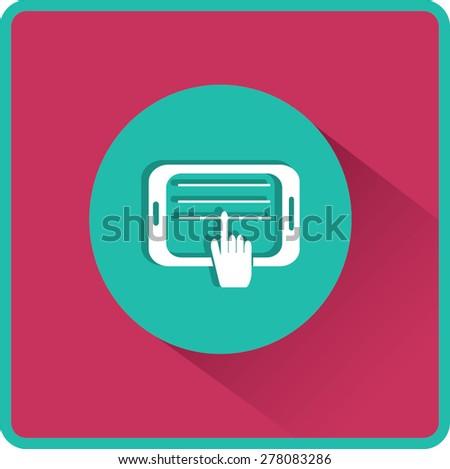 Tablet Illustration. Flat Vector Icon - stock vector