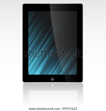 Tablet PC display with abstract background.Vector eps10
