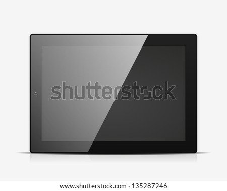 Tablet PC icon. Vector illustration - stock vector