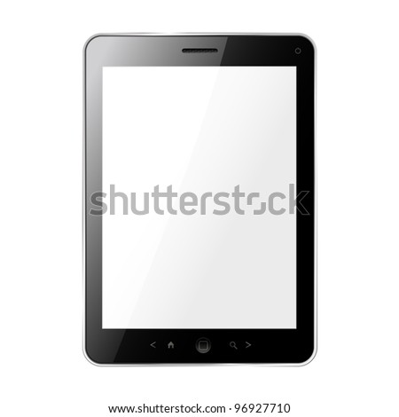 tablet pc. vector - stock vector