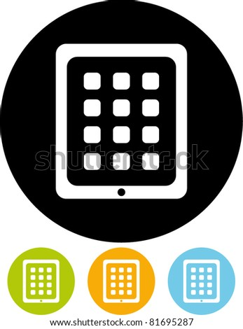Tablet PC vector icon - stock vector