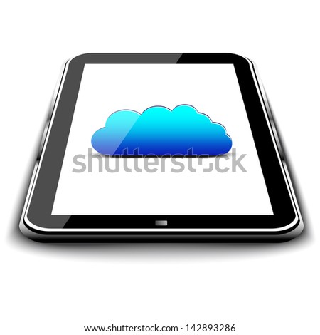 Tablet PC with cloud computing on a screen