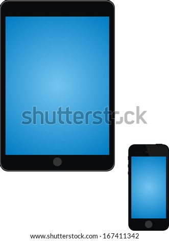 tablet phone vector