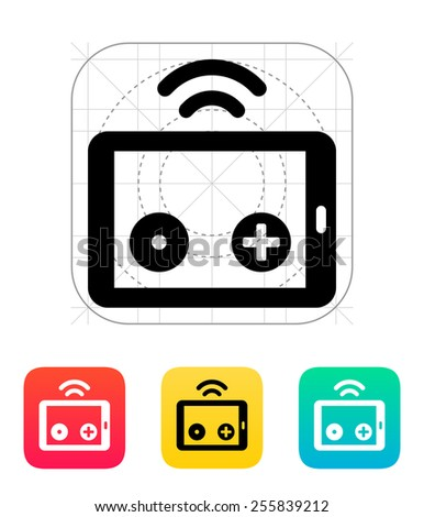 Tablet remote controller icon. Vector illustration. - stock vector