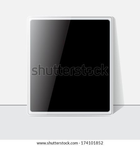 Tablet screen, white case. Vector - stock vector