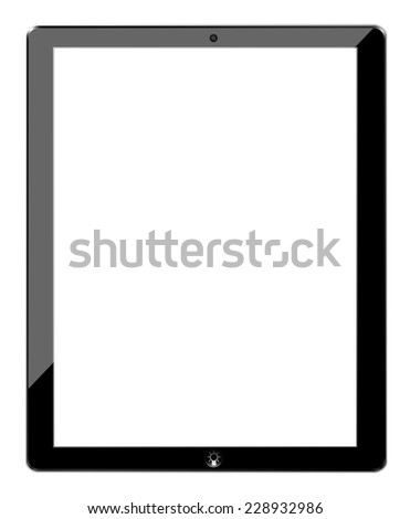 Tablet similar ipad and idea button, vector - stock vector