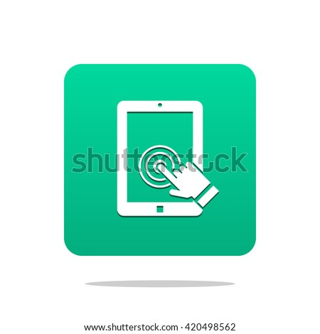 tablet touch screen icon - stock vector