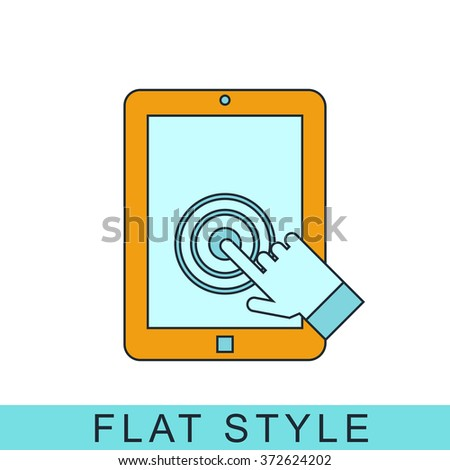 tablet touch screen Icon Vector.  Icon JPEG. tablet Object. touch screen Picture. tablet Image. tablet Graphic. tablet Art. Icon JPG. tablet touch screen Icon EPS. Icon AI. tablet touch screen Drawing - stock vector