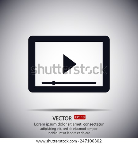 tablet - vector icon - stock vector