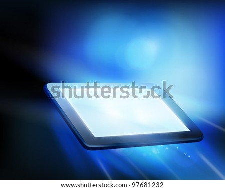Tablet. Vector illustration. - stock vector
