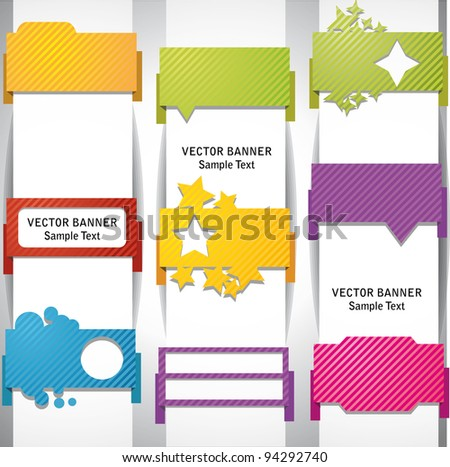 Tablets and banners. - stock vector