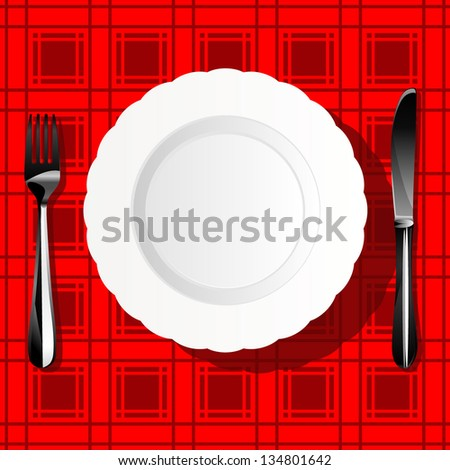 tableware - stock vector