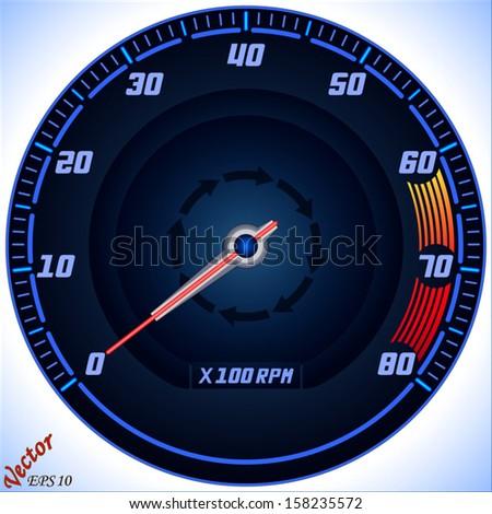 Tachometer - stock vector