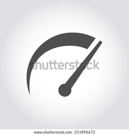 tachometer icon vector illustration - stock vector
