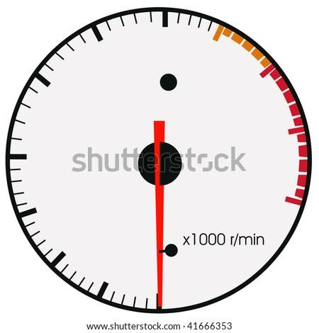 tachometr - stock vector