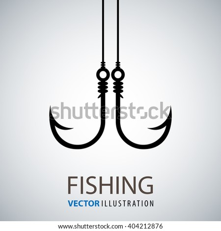 Tackle for fishing; fishing hook; Hook for fishing - stock vector