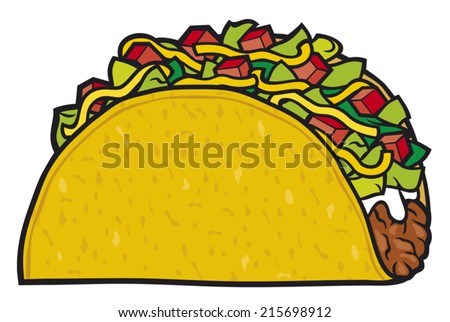 taco - mexican food  - stock vector