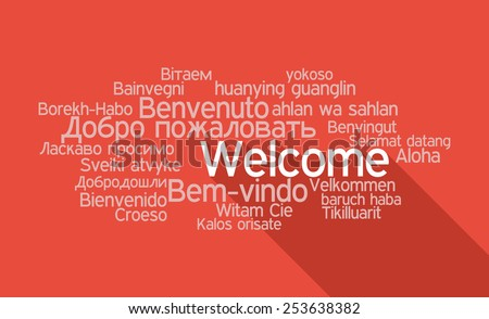 Tag Cloud Welcome  in vector format - stock vector