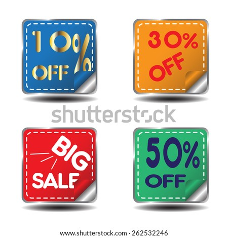 tag for sale - stock vector