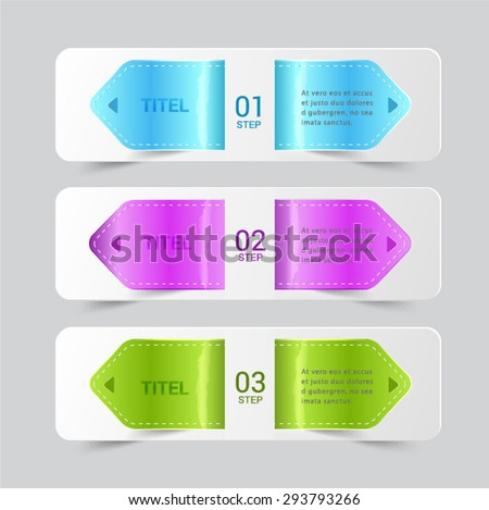 Tag leather glassy banner. - stock vector
