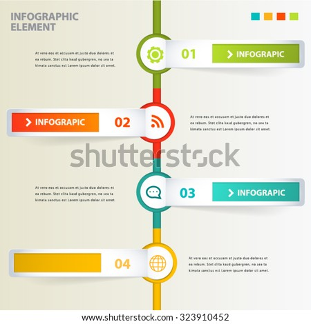 Tag Modern Infographic design element banner. - stock vector