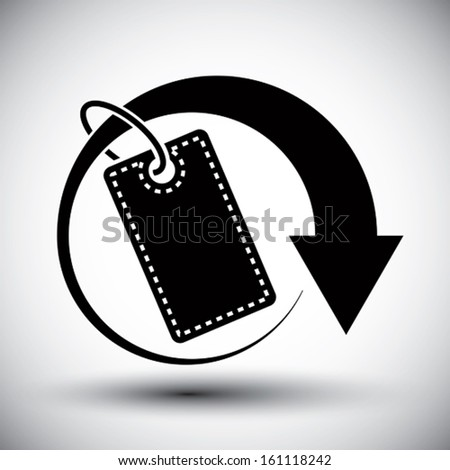 Tag retail theme vector simple single color icon.  - stock vector