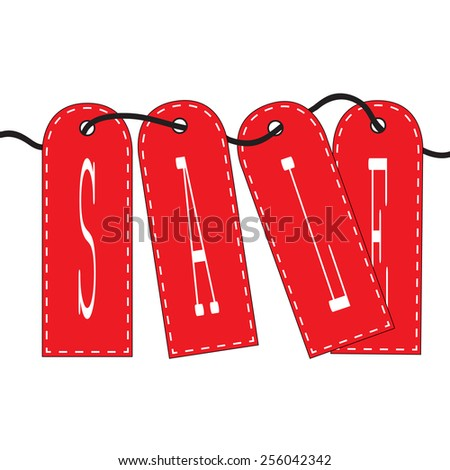 tag sale - stock vector