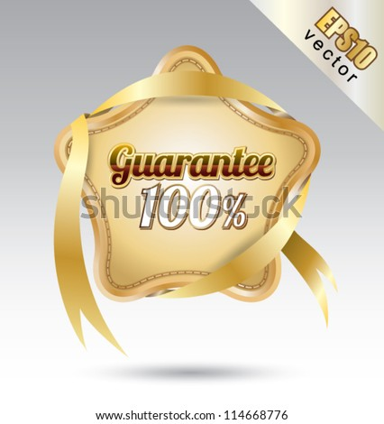 Tag stay quarantee, can use for your business concept, education banner, brochure object. - stock vector