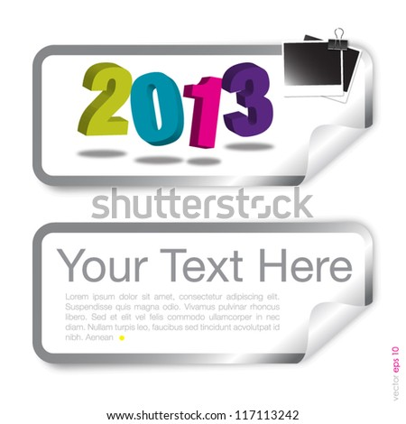 Tag 2013 with photo frame vector format - stock vector