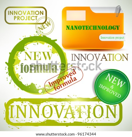 "Tags and stamps ""Innovation"" - stock vector"