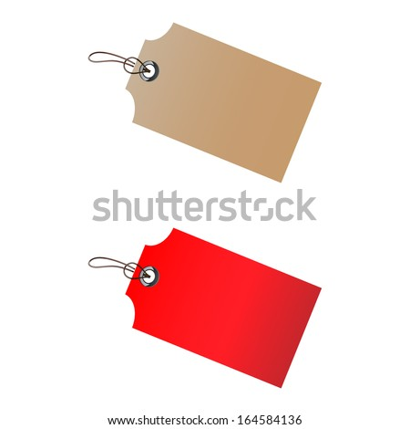 Tags isolated on white background