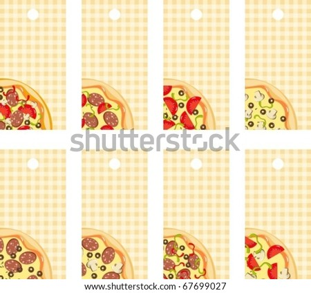 Tags pizza - stock vector
