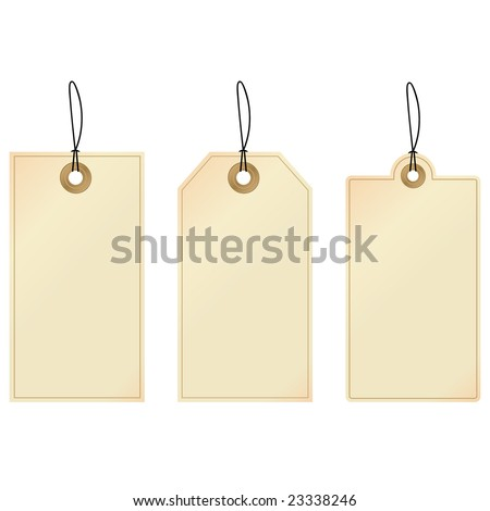 Tags. Set of decorative tags. - stock vector