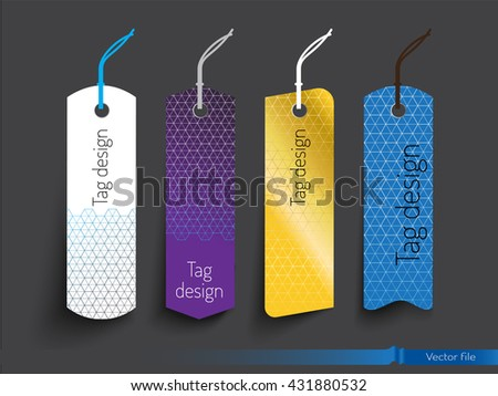 Tags template design. modern luxury concept. vector file - stock vector