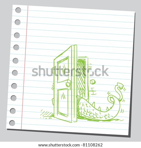 Tail of dragon - stock vector